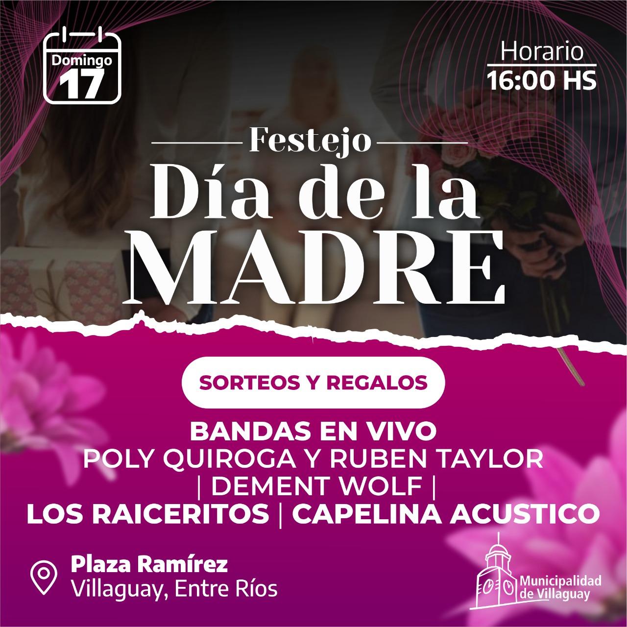Festejo por el Día de Madre en Plaza Ramírez