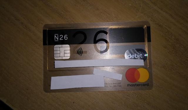 N26 addio spese su acquisti all'estero + Scegli tu il PIN Carta! Mastercard Gratis. Carta-N26-1