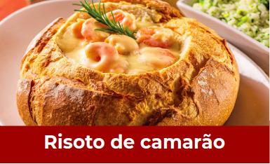 Receita de Risoto de Camarão e Gorgonzola no Pão Italiano