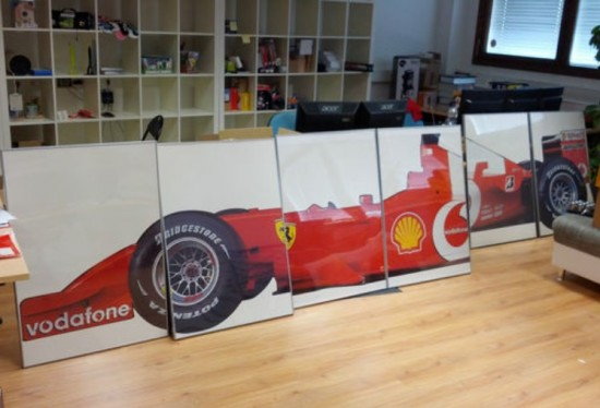 FULL SIZE FERRARI/SCHUMACHER FORMULA 1 GRAND PRIX CAR PICTURE