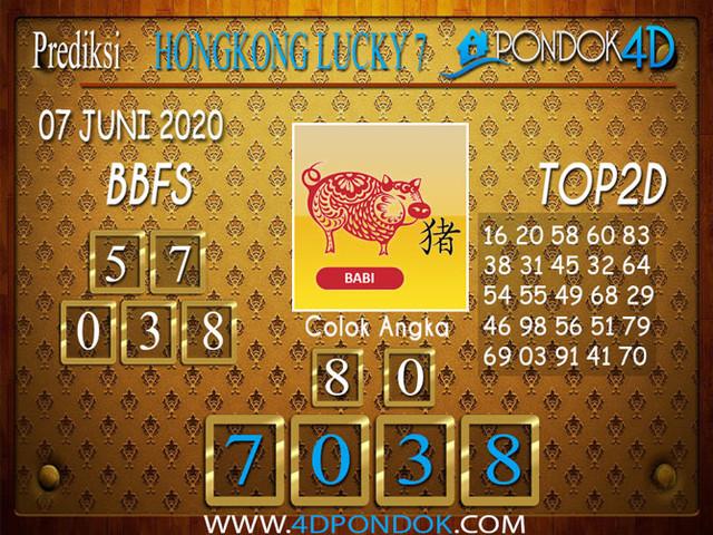 Prediksi Togel HONGKONG LUCKY 7 PONDOK4D 07 JUNI 2020