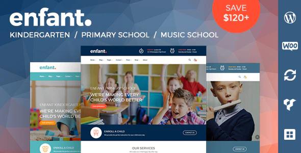 ThemeForest - Enfant v3.1.6 - School and Kindergarten WordPress Theme - 20121401