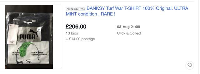 rastro Excéntrico Visión  Banksy Puma Trainers? | Banksy Turf War Show London Print | Urban Art  Association