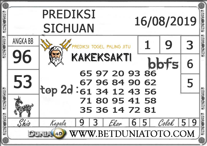 """Prediksi Togel """"SICHUAN"""" DUNIA4D 16 AGUSTUS 2019"""