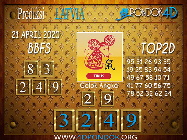 Prediksi Togel LATVIA POOLS PONDOK4D 21 APRIL 2020