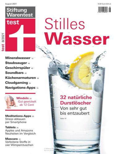 Cover: Stiftung Warentest Test-Magazin No 08 August 2021