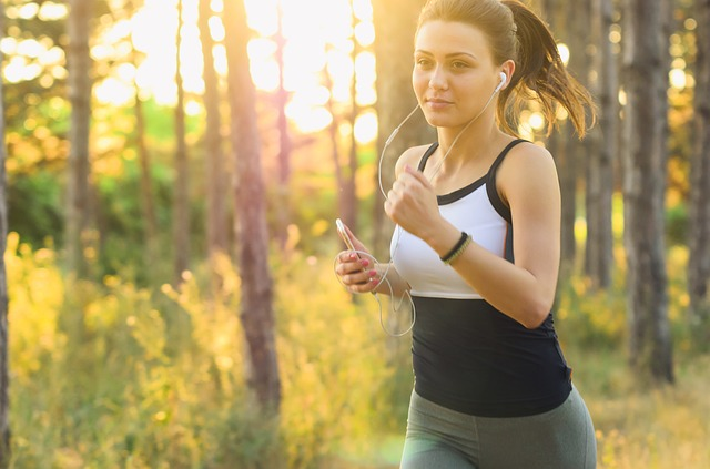 Girl doing Exercise to lose weight