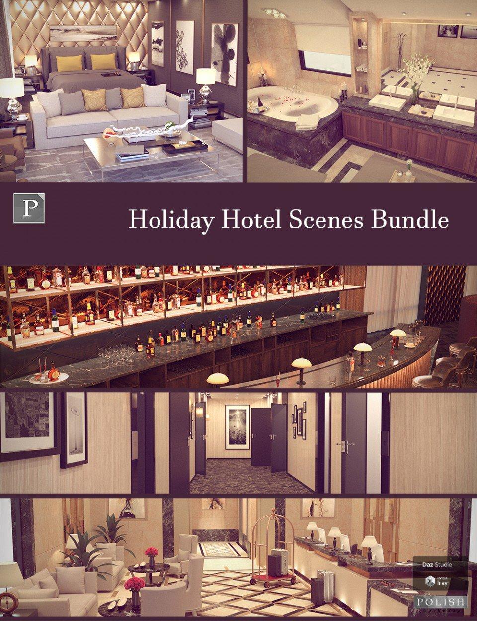 Holiday Hotel Scenes Bundle