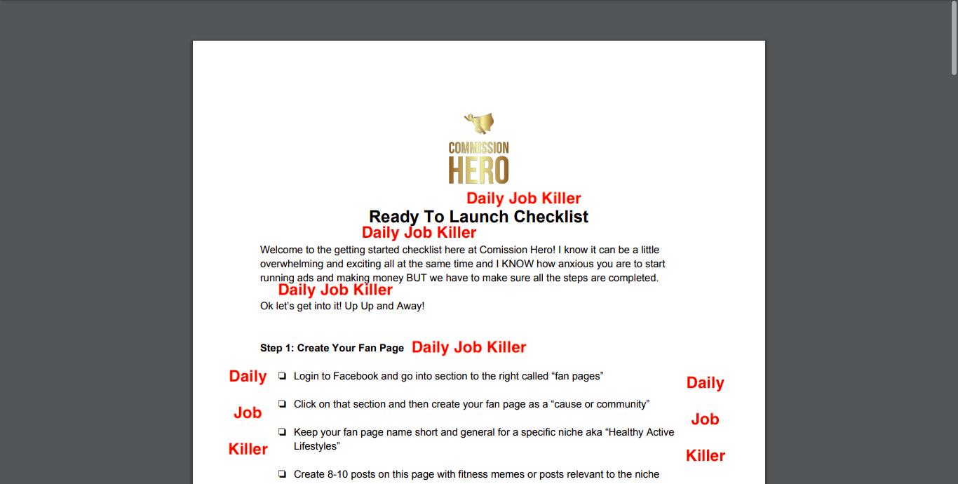 Commission Hero Affiliate Marketing Site