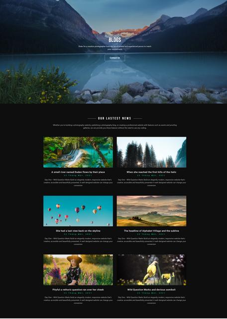 Caza – Photography Studio Elementor Template Kit, Gobase64