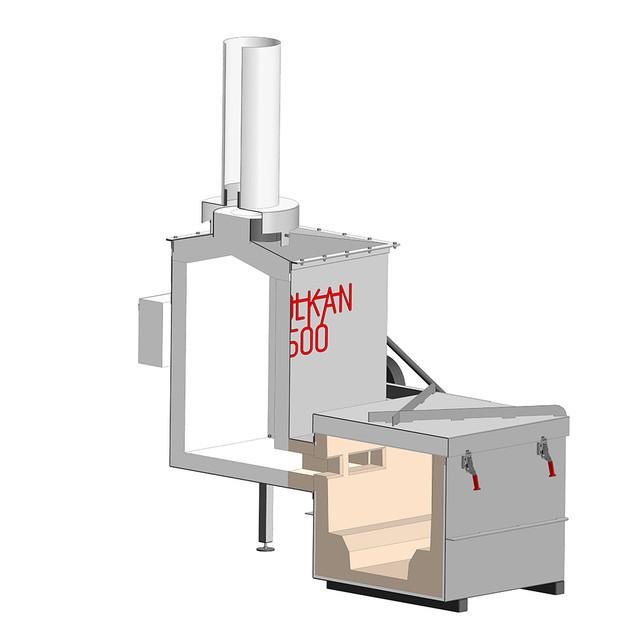 Высокотехнологичная футеровка - инсинератор VOLKAN 500