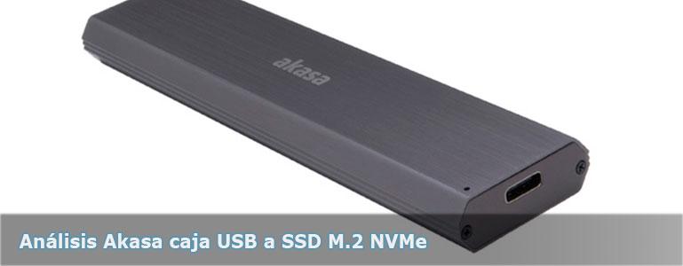 Análisis Akasa caja USB a SSD M.2 NVMe aluminio