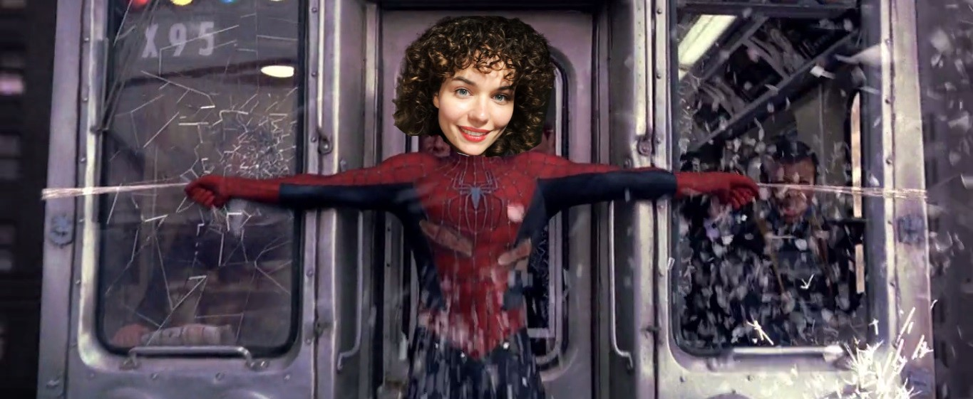 Peter-Parker-is-stopping-the-train-Earth