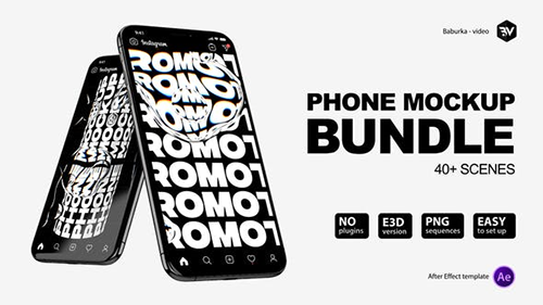 Phone Mockup Bundle V3 26433855 - Project for After Effects (Videohive)