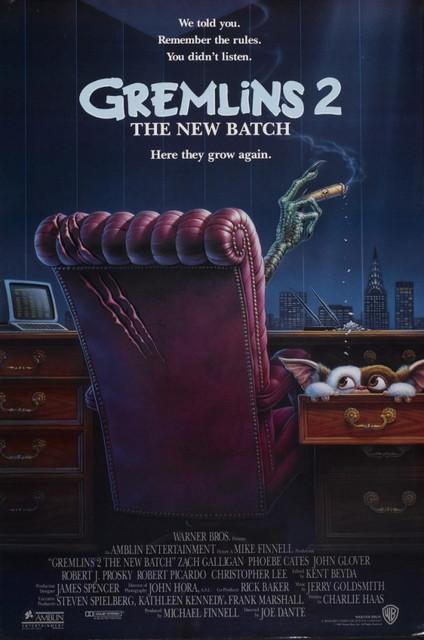 Смотреть Гремлины 2: Новенькая партия / Gremlins 2: The New Batch Онлайн бесплатно - События происходят в Нью-Йорке. Новая партия вреднющих зеленых жадин вырвалась на свободу....