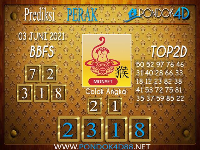 Prediksi Togel PERAK PONDOK4D 03 JUNI 2021