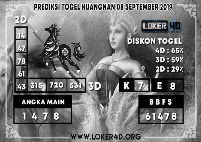 PREDIKSI TOGEL HUANGNAN LOKER4D 08 SEPTEMBER 2019