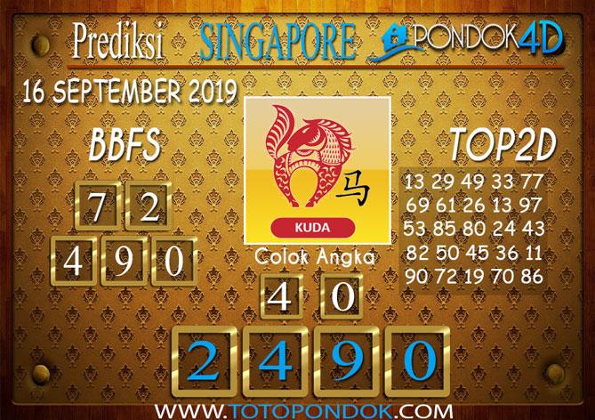 Prediksi Togel SINGAPORE PONDOK4D 16 SEPTEMBER 2019