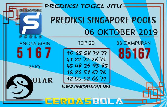 "Prediksi Togel ""SINGAPORE"" CERDASBOLA 06 OKTOBER 2019"