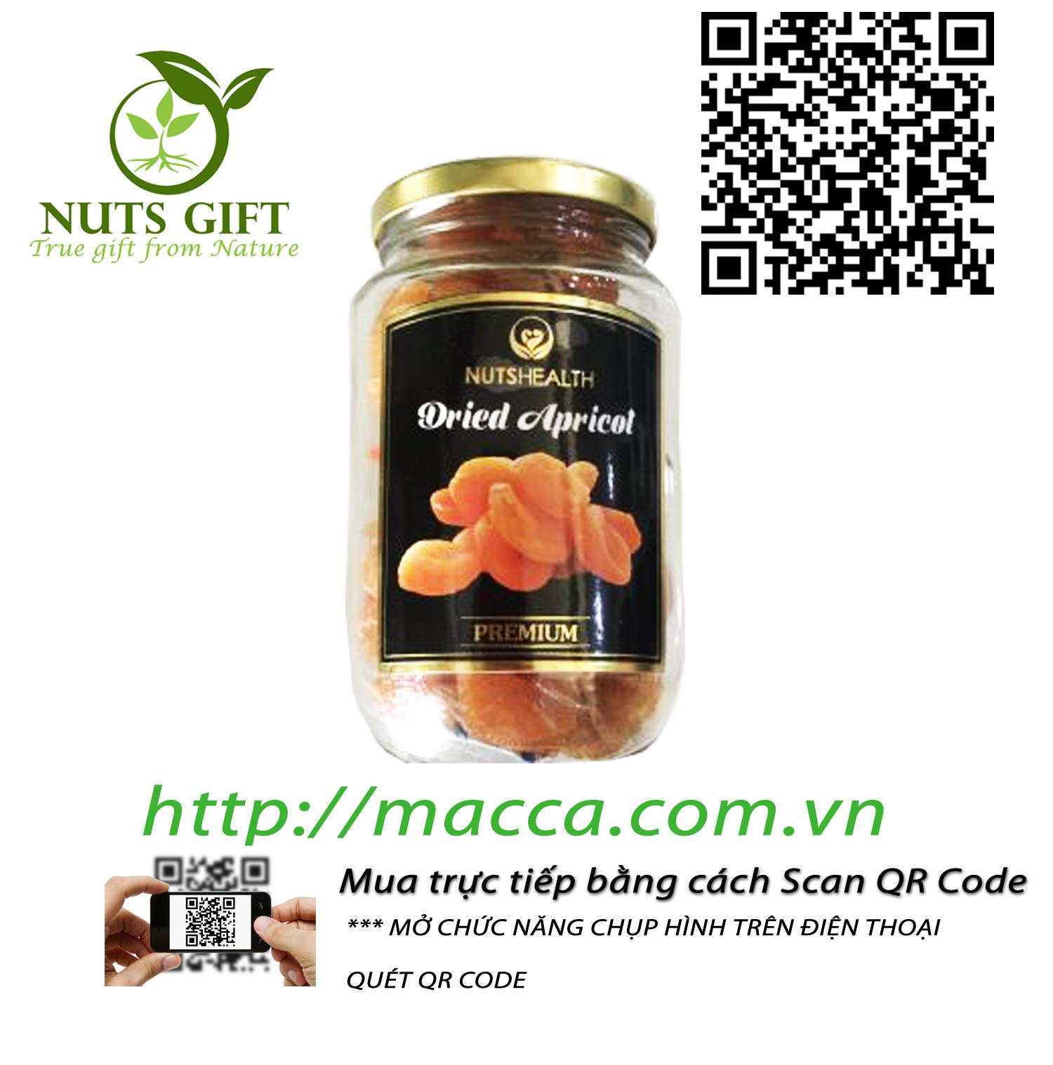Mơ Sấy Khô – Nutshealth –  500Gr
