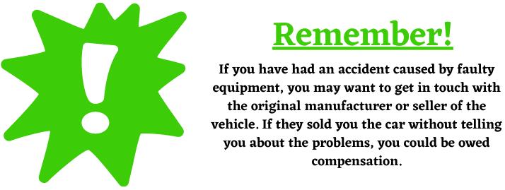 faulty car equipment