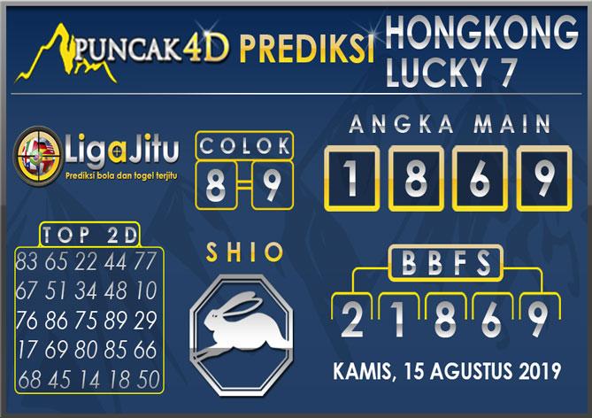 PREDIKSI TOGEL HONGKONG LUCKY7 PUNCAK4D 15 AGUSTUS 2019