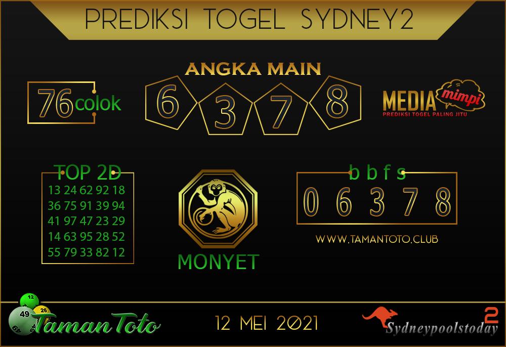Prediksi Togel SYDNEY 2 TAMAN TOTO 12 MEI 2021