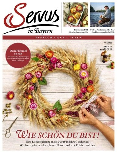 Cover: Servus einfach gut leben in Bayern Magazin No 09 2021