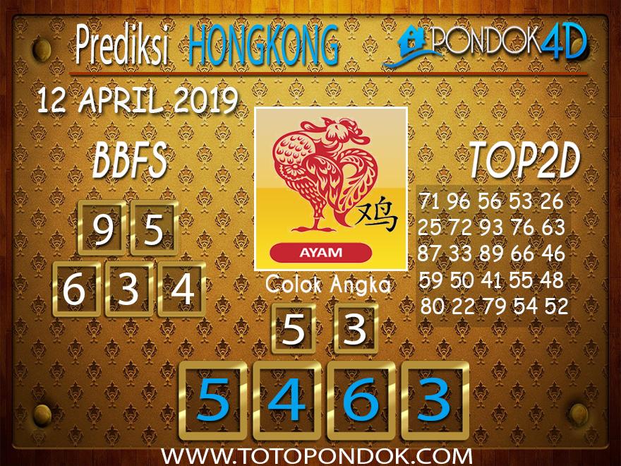 Prediksi Togel HONGKONG PONDOK4D 12 APRIL 2019