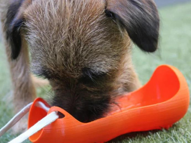 Dog Bowl Water Bottle Carrier - Cool Things to 3D Print