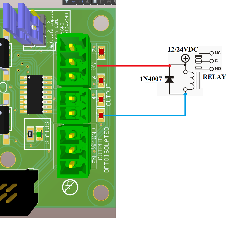 Diode for Open Collector Output