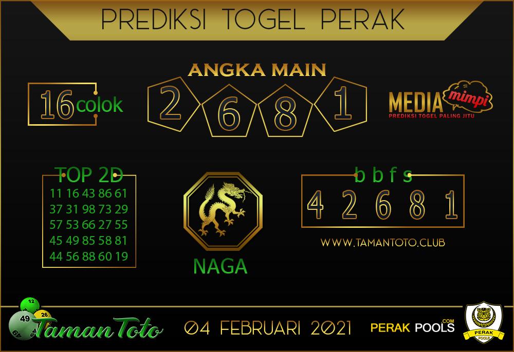 Prediksi Togel PERAK TAMAN TOTO 04 FEBRUARI 2021