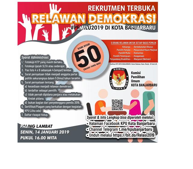 Relawan-Demokrasi-2019-Banjarbaru