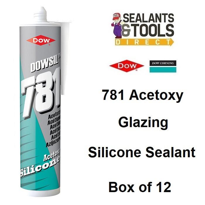 Dow Corning Dowsil 781 Acetoxy Silicone Sealant Box of 12