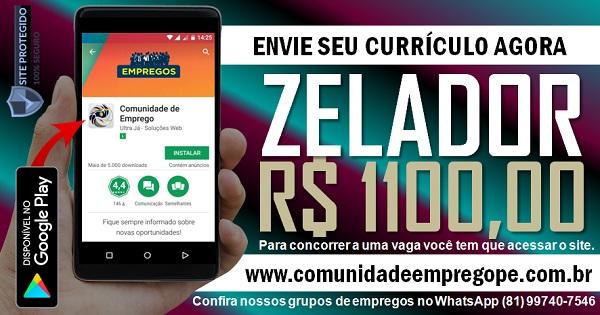 ZELADOR COM SALÁRIO DE R$ 1100,00 PARA INDUSTRIA NA IMBIRIBEIRA