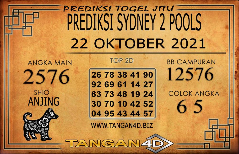 PREDIKSI TOGEL SYDNEY 2 TANGAN4D 22 OKTOBER 2021