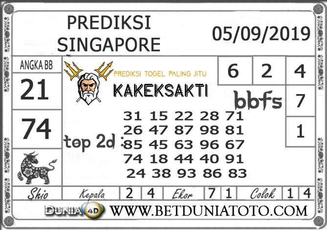 """Prediksi Togel """"SINGAPORE"""" DUNIA4D 05 SEPTEMBER 2019"""