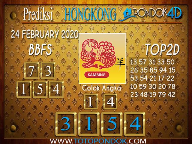 Prediksi Togel HONGKONG PONDOK4D 24 FEBRUARY 2020