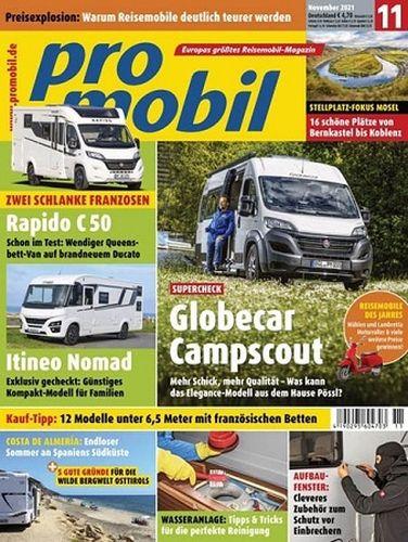 Cover: Promobil Reisemobilmagazin November No 11 2021