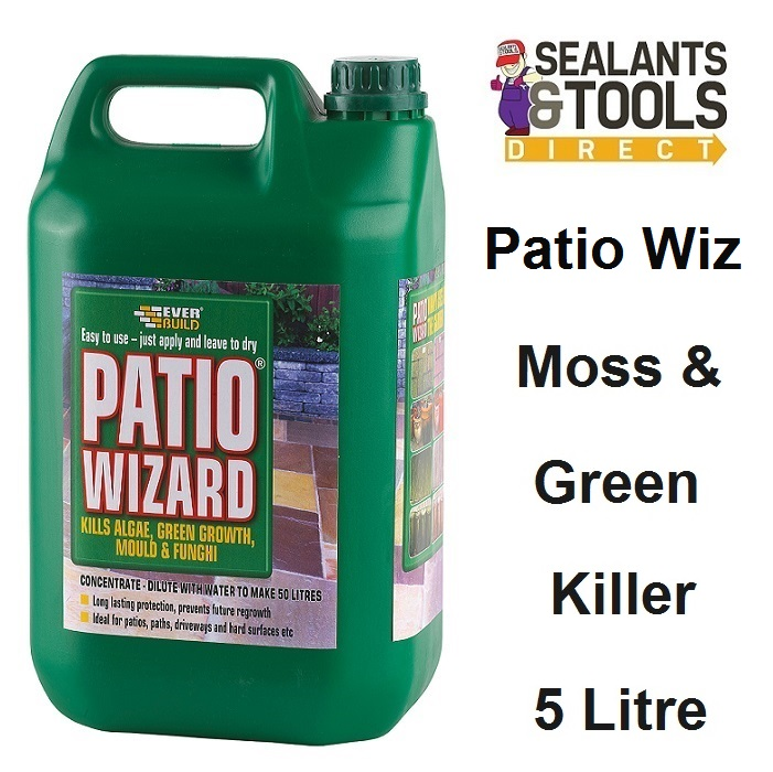 Everbuild Patio Wizard Moss Mould Green Algae Killer 5 Litre PATWIZ5