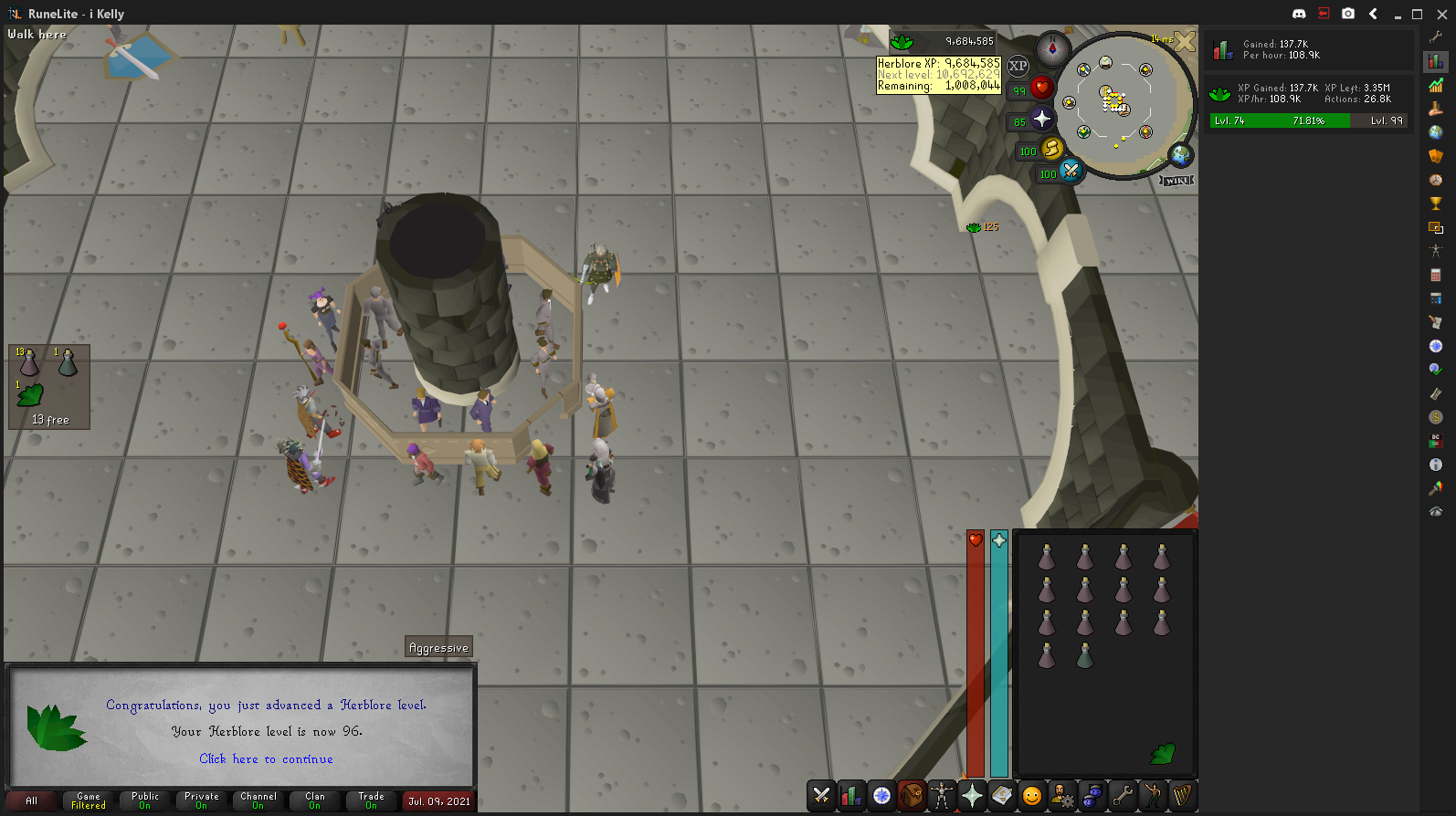 Kelly's Lengthy Road to Maxing! Herblore-96-2021-07-09-08-48-19