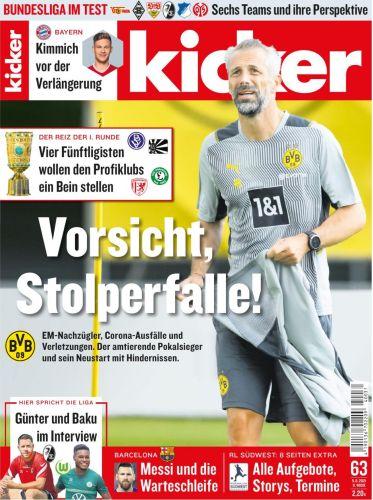 Cover: Kicker Sportmagazin No 63 vom 05  August 2021