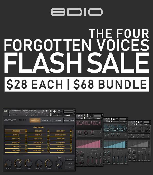 8Dio Four Forgotten Voices Flash Sale | $28 Each | $68 Bundle | 1