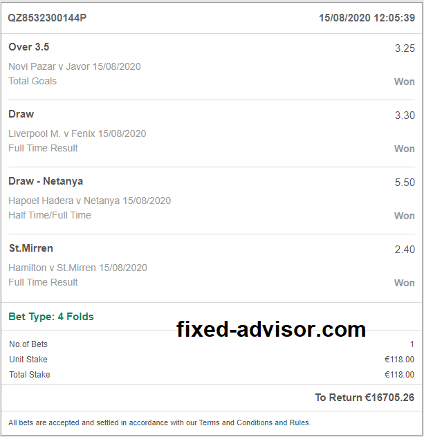 Daily Fixed Odds Sure