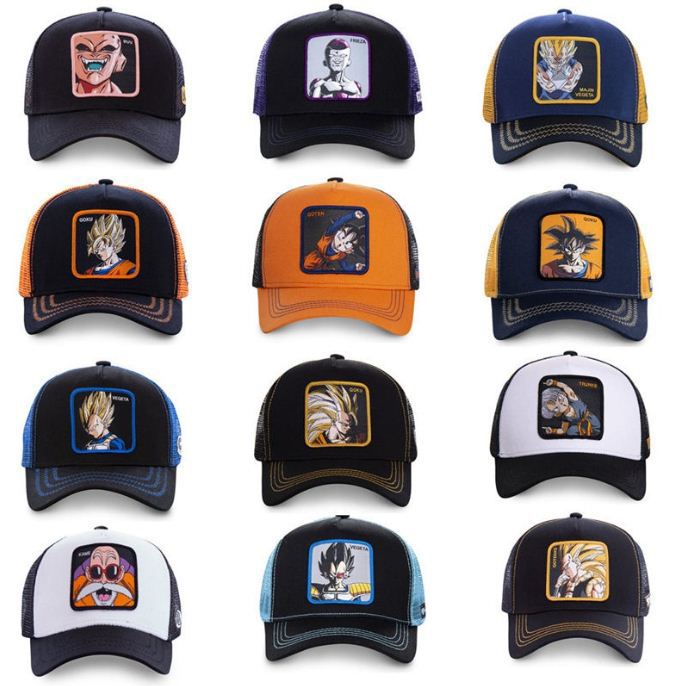 New Original Cap Dragon Ball Mesh Hat Vegeta /& Goku Baseball Cap High Quality