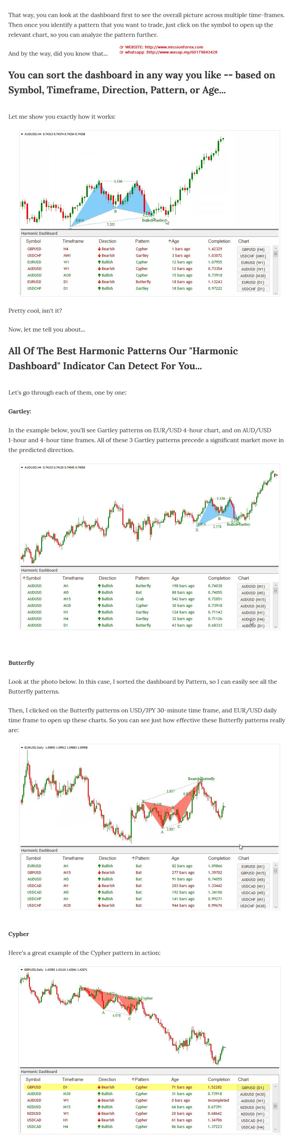 NoBSFx FOREX Trading(BONUS Harmonic Dashboard forex indicator)