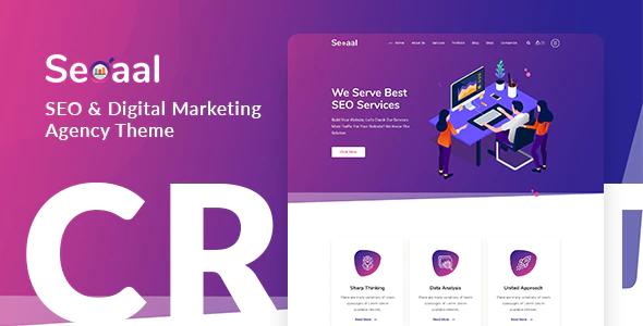 ThemeForest - Seoaal v1.0.1 - SEO & Digital Marketing WordPress Theme - 24470818