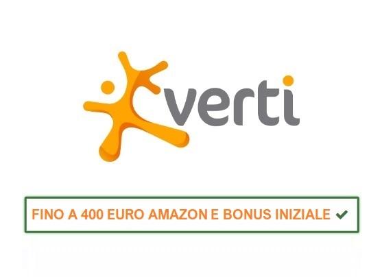 VERTI BONUS BENVENUTO + Promo porta un Amico fino a 400 EURO Buoni AMAZON Cumulabili Verti-logo