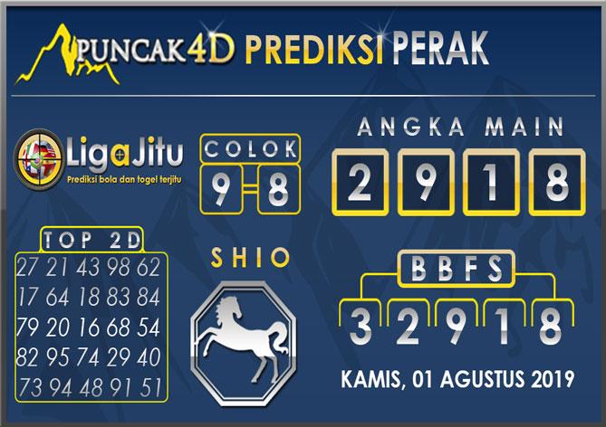 PREDIKSI TOGEL PERAK PUNCAK4D 01 AGUSTUS 2019