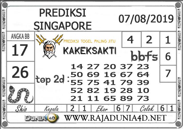 """Prediksi Togel """"SINGAPORE"""" DUNIA4D 07 AGUSTUS 2019"""